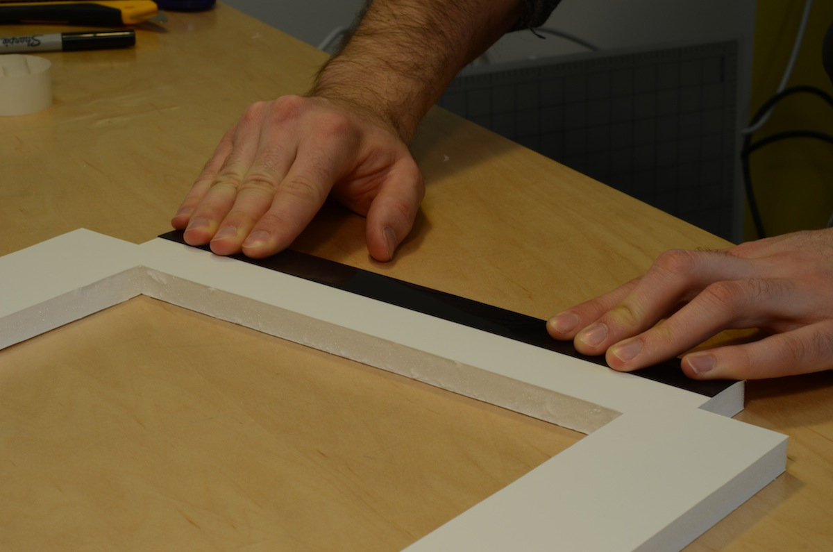 Picture of Laminate Strips to the Top Plate