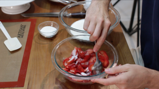 Prep Strawberries and Whipped Cream