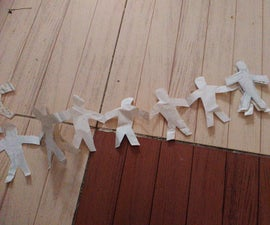 Paper Continuous People Chain in 5 Minutes