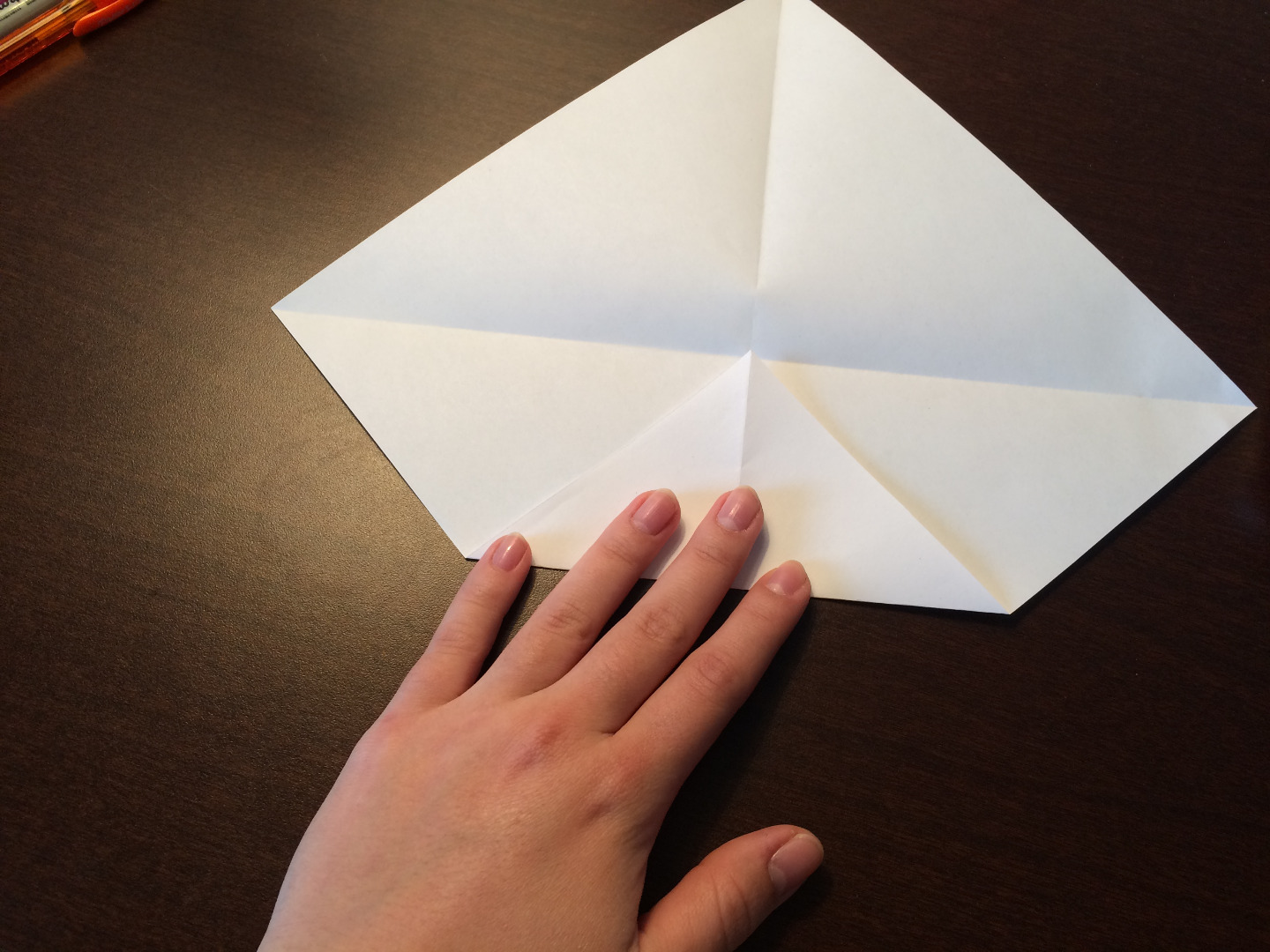 Picture of Fold in Outer Corners to the Center