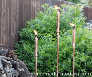 HomeMade Modern DIY Copper Tiki Torches