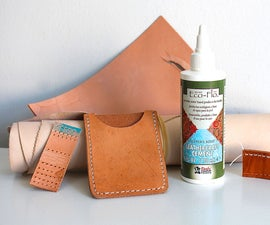 how to glue leather for sewing