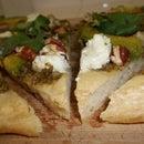 Pecan Pesto Chevre Pizza: Tex-ican Style