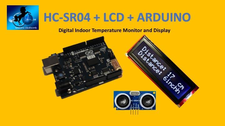 Picture of HC-SR04 + LCD + Arduino: Ultrasonic Rangefinder Display