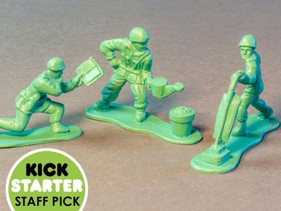 Molding Toy Soldiers Using an Epoxy Mold.