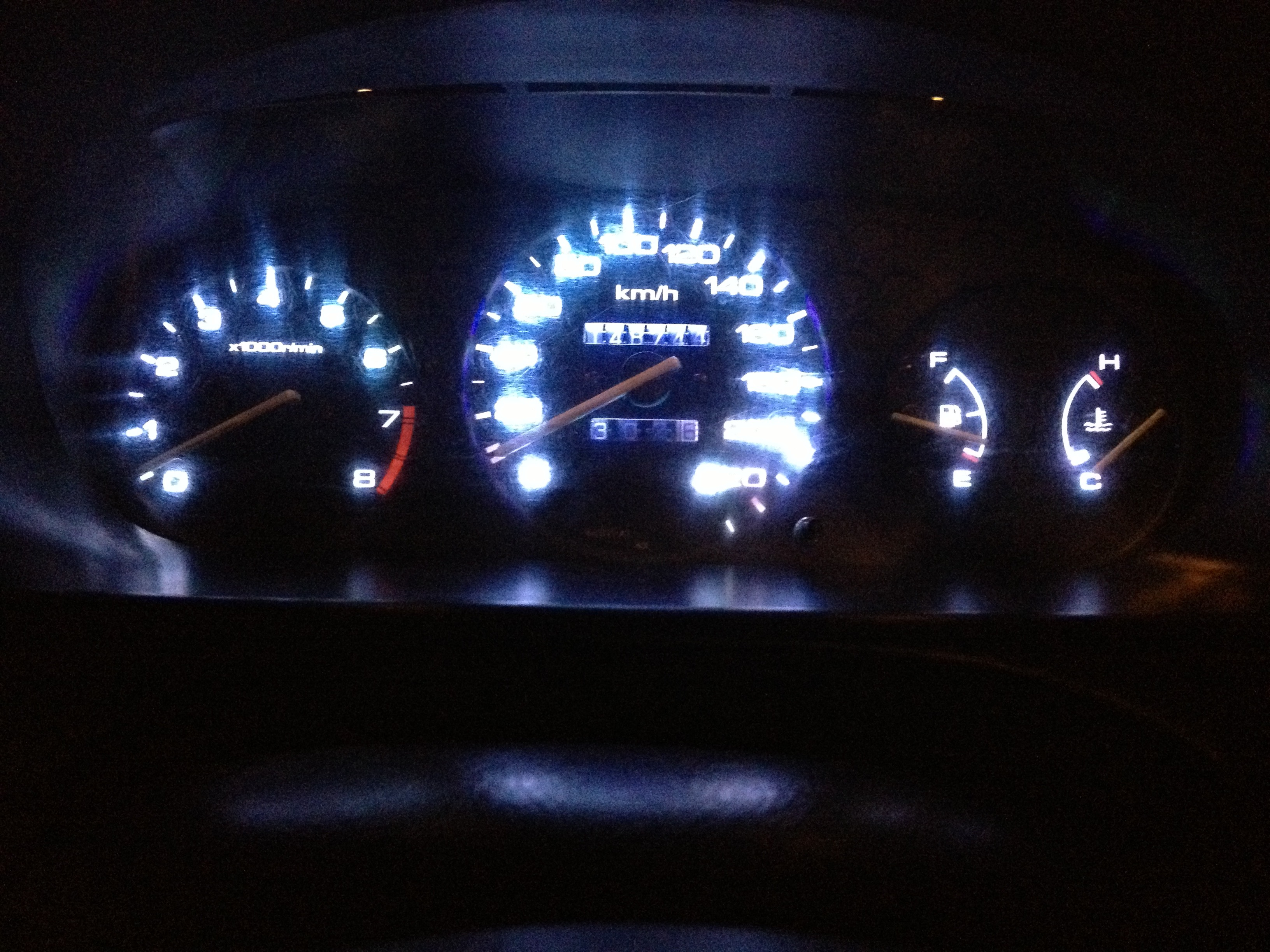 Picture of Honda Civic Speedometer Light Upgrade