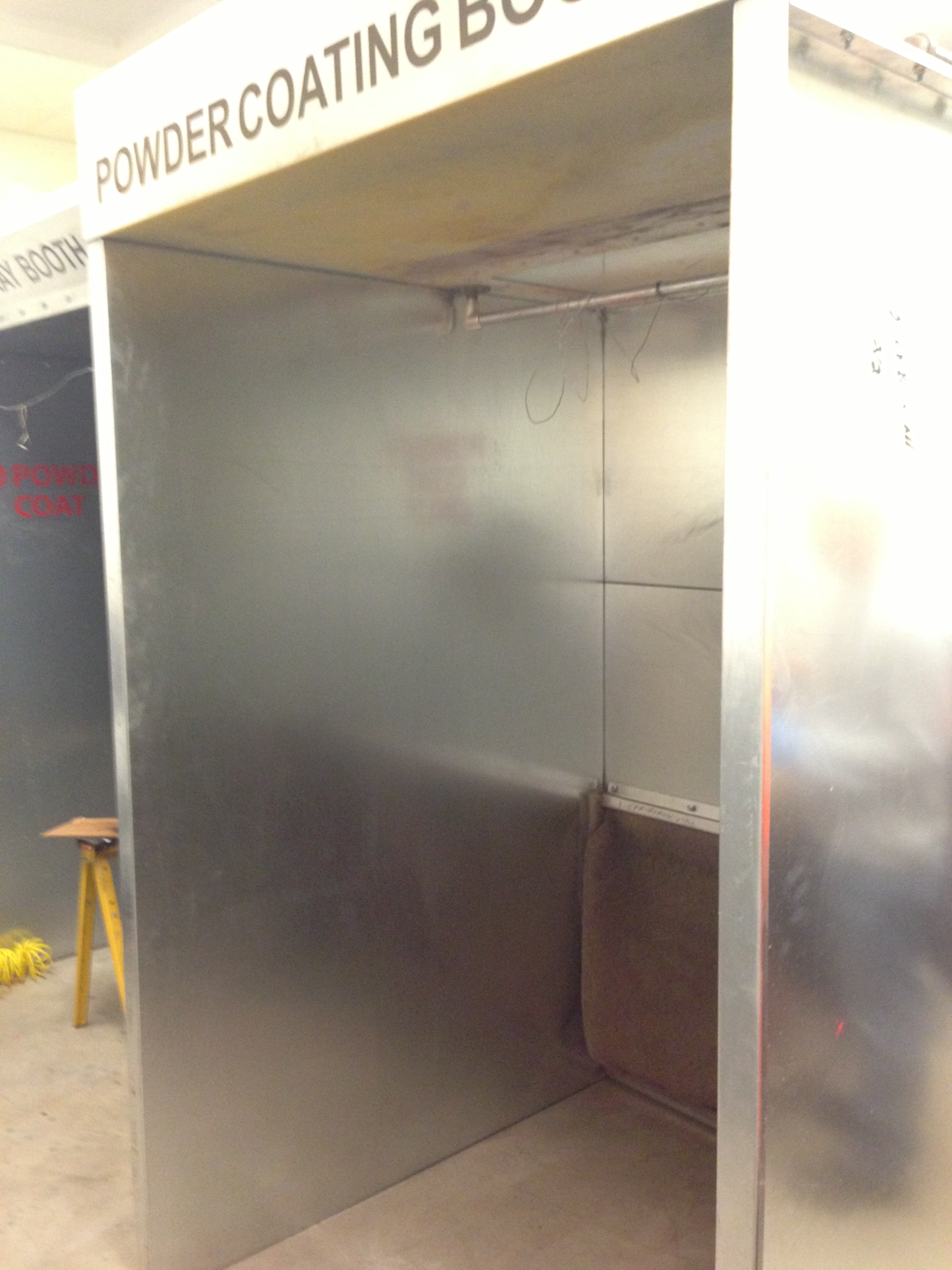 Picture of Powder Coating: the Powder Booth