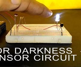 How to Make LDR Darkness Sensor Circuit Simple DIY