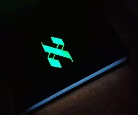 Custom Glowing Laptop Insignia - No Wiring Needed
