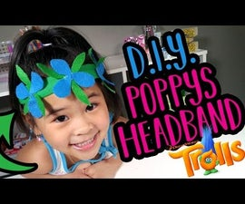DIY Poppy's Flower Headband | Trolls Movie Craft