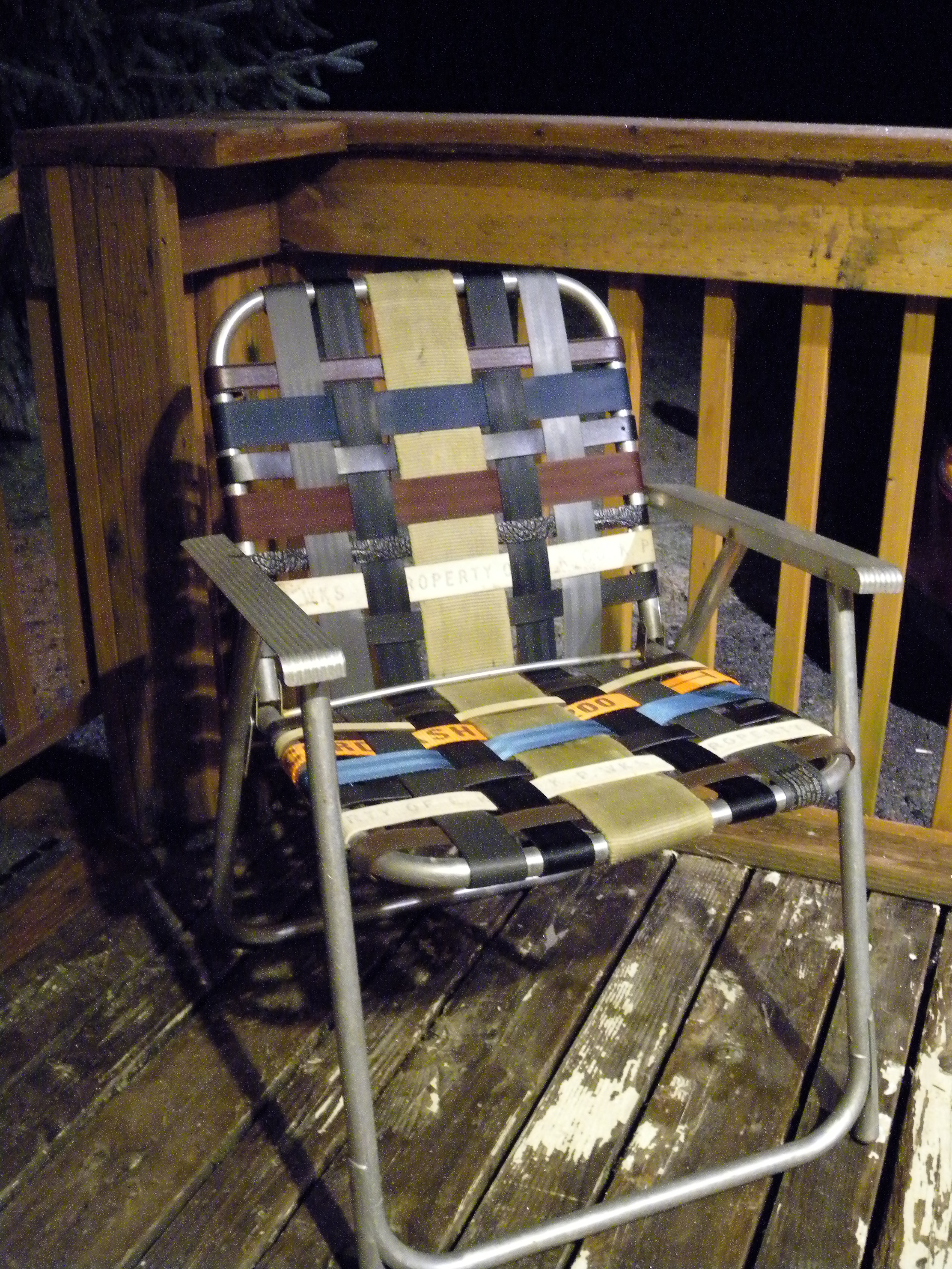 refurbished folding lawn chair with repurposed materials - Folding Lawn Chairs On Sale