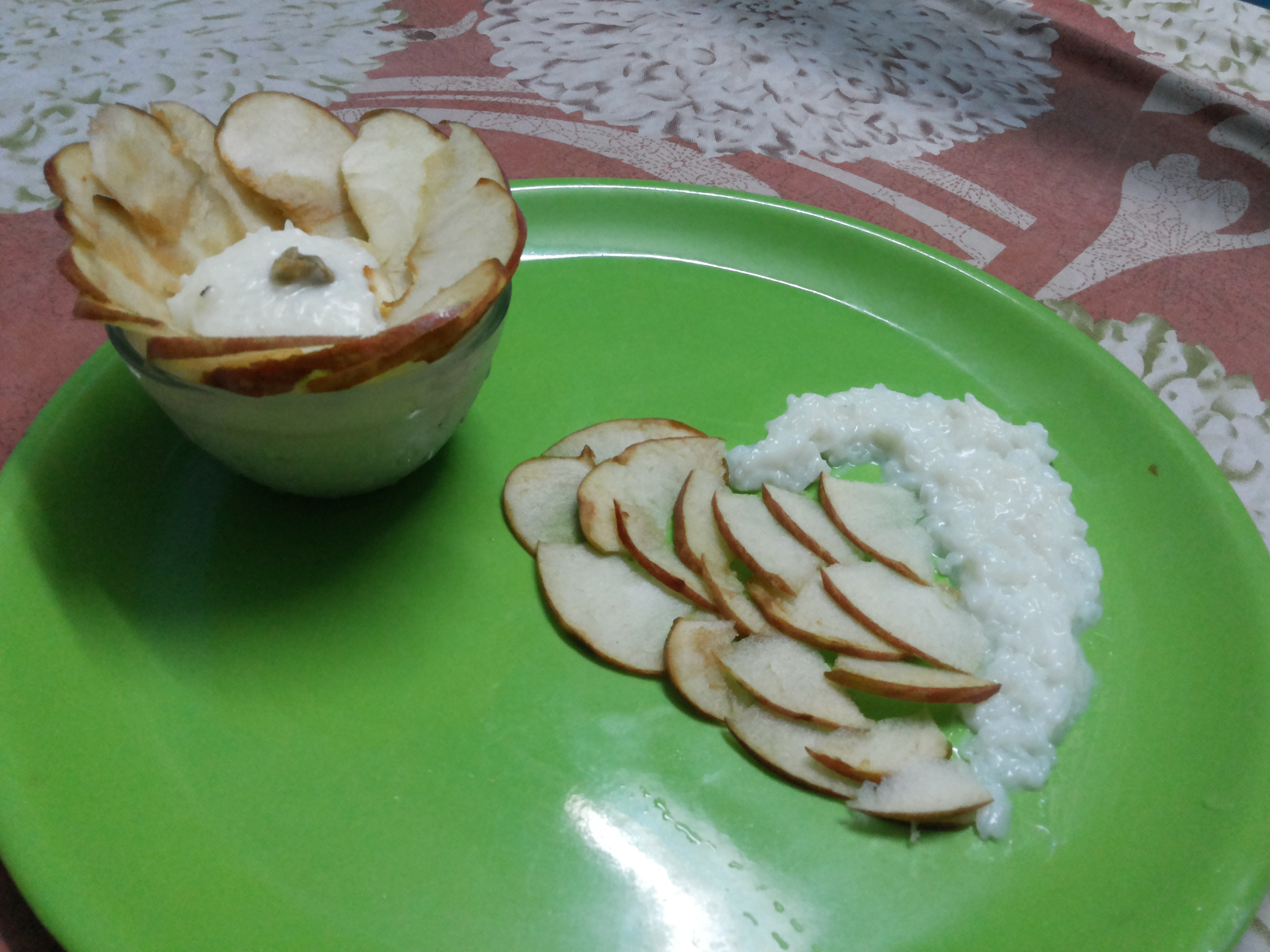 Picture of KHEER OR RICE PUDDING WITH APPLE DECORATION