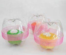 Reycled plastic bottle cupcake holders