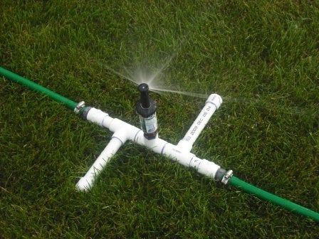 A Three Head Sprinkler for Odd Lawns