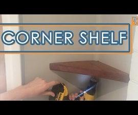 Custom Floating Corner Shelf