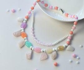 Pandahall Original DIY Project - How to Make Handmade Gemstone Bead and Jade Beaded Necklaces