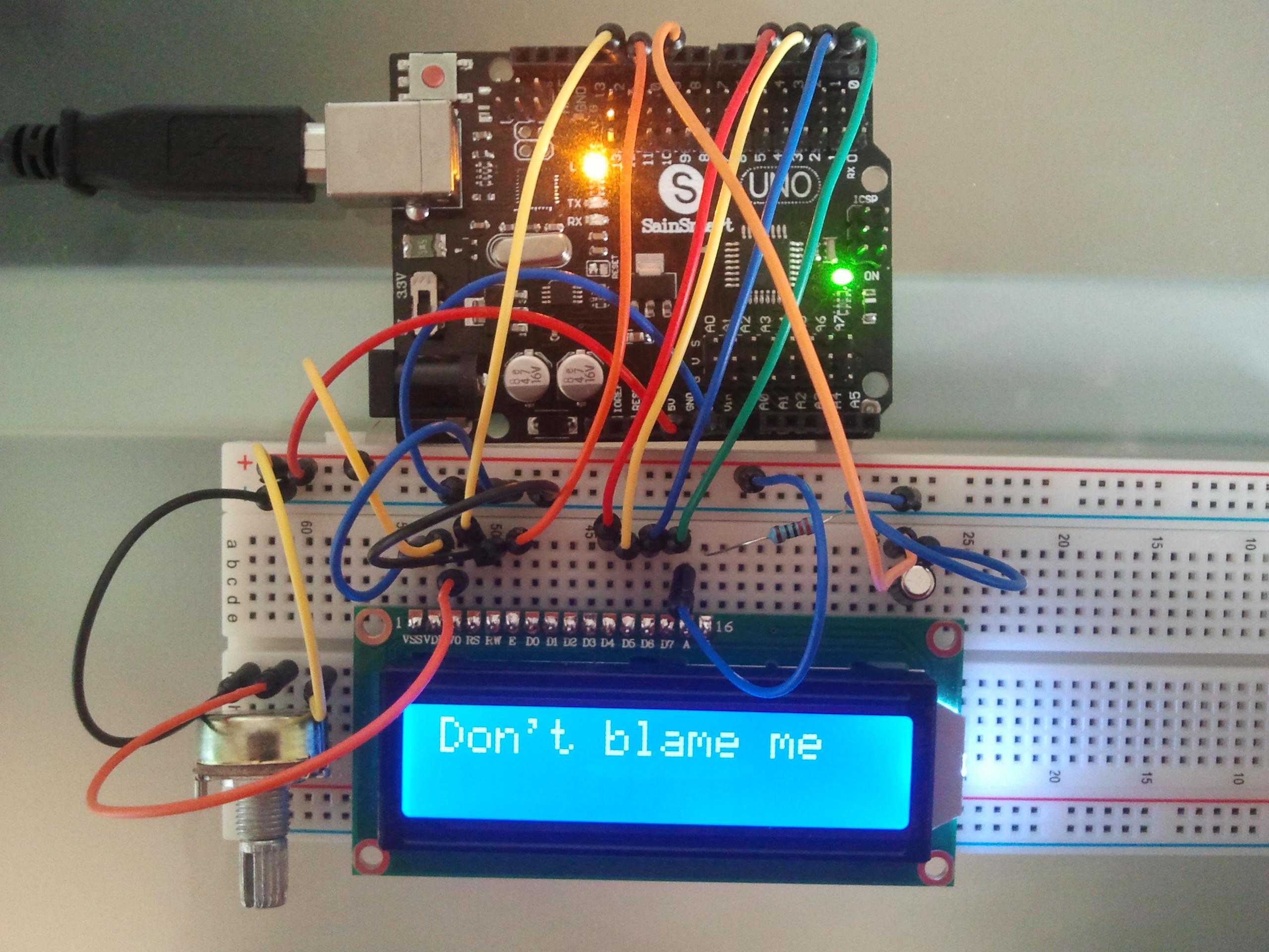 Picture of Arduino Excuse Generator