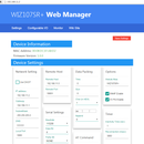Web Manager development for WIZnet Serial to Ethernet modules