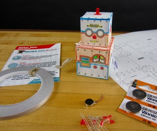 Move and Blink Paper Robot