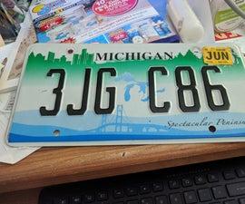 License Plate Plack.