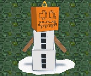 Minecraft Snow Golem Ornament