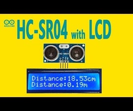Arduino - Ultrasonic Sensor HC-SR04 With LCD Display