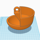 3D Printable Self Watering Planter