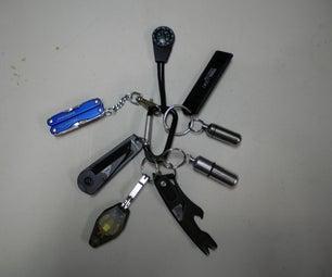 Survival Tool Key Ring