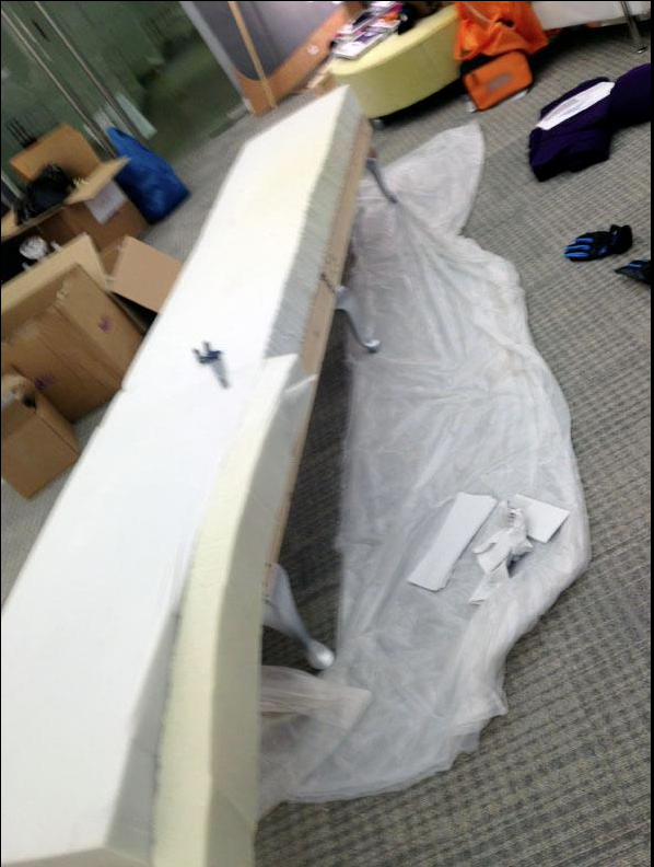 Picture of Glue and Cut the Foam