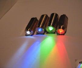 Mini brass LED torches (flashlights)