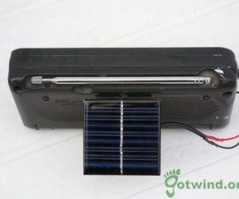 DIY Solar Powered radio for $5