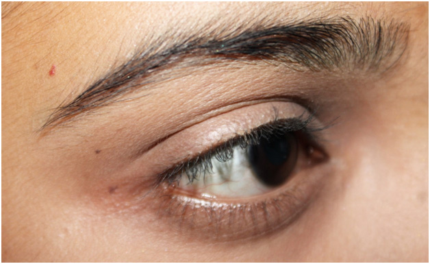 Picture of Red and Blue Eye Makeup: Step by Step Tutorial