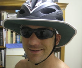 A DIY Sun-Protective Brim for a Bicycle Helmet