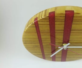 Wall Clock From Scrap Plywood