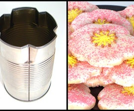 Quick And Simple Flower/Clover Cookie Cutter From A Soup Can