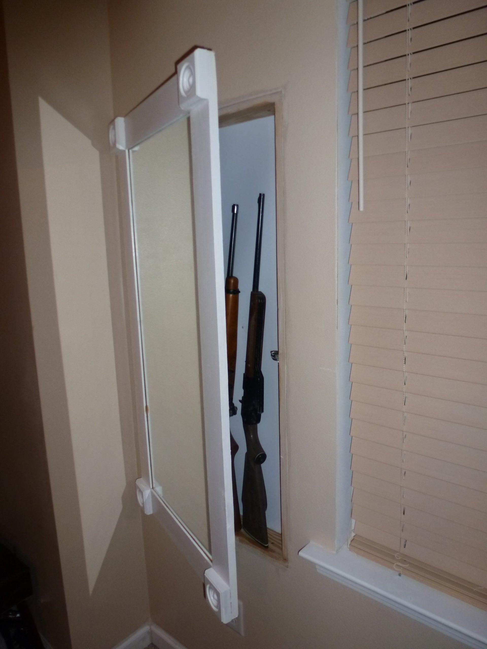 Hidden In Wall Gun Cabinet With Hidden Keypad 8 Steps