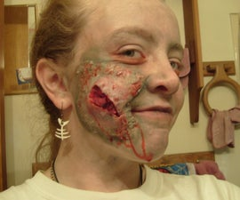 How to make a zombie face wound