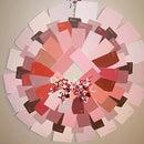 Paint Chip Valentine's Day Wreath