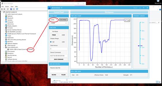 PC Based Implementation Using Benewake App