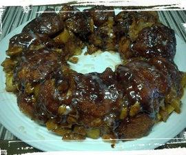 Maple-Cinnamon-Walnut Monkey Bread, with Apples