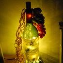 Light up wine bottle