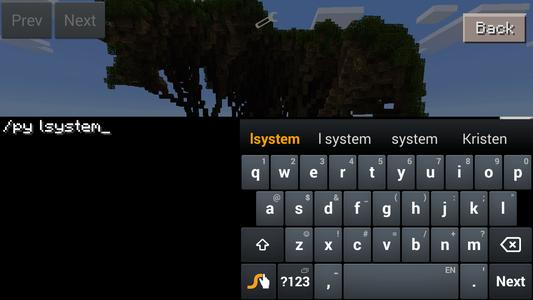 Run a Sample Script From Inside Minecraft