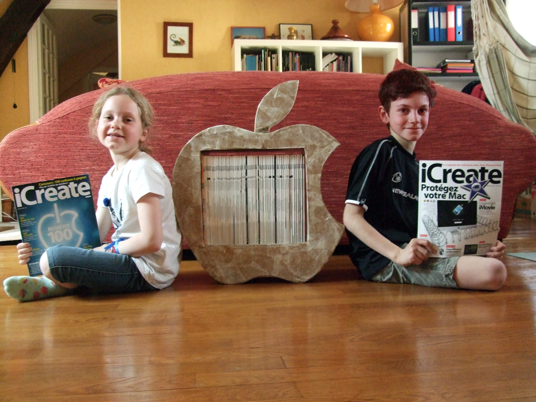 Picture of Cardboard Furniture As Apple's Logo.