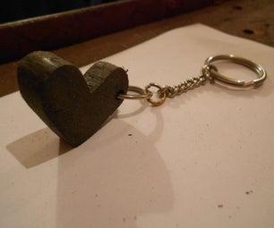 Plastic Heart-Keychain (HDPE)