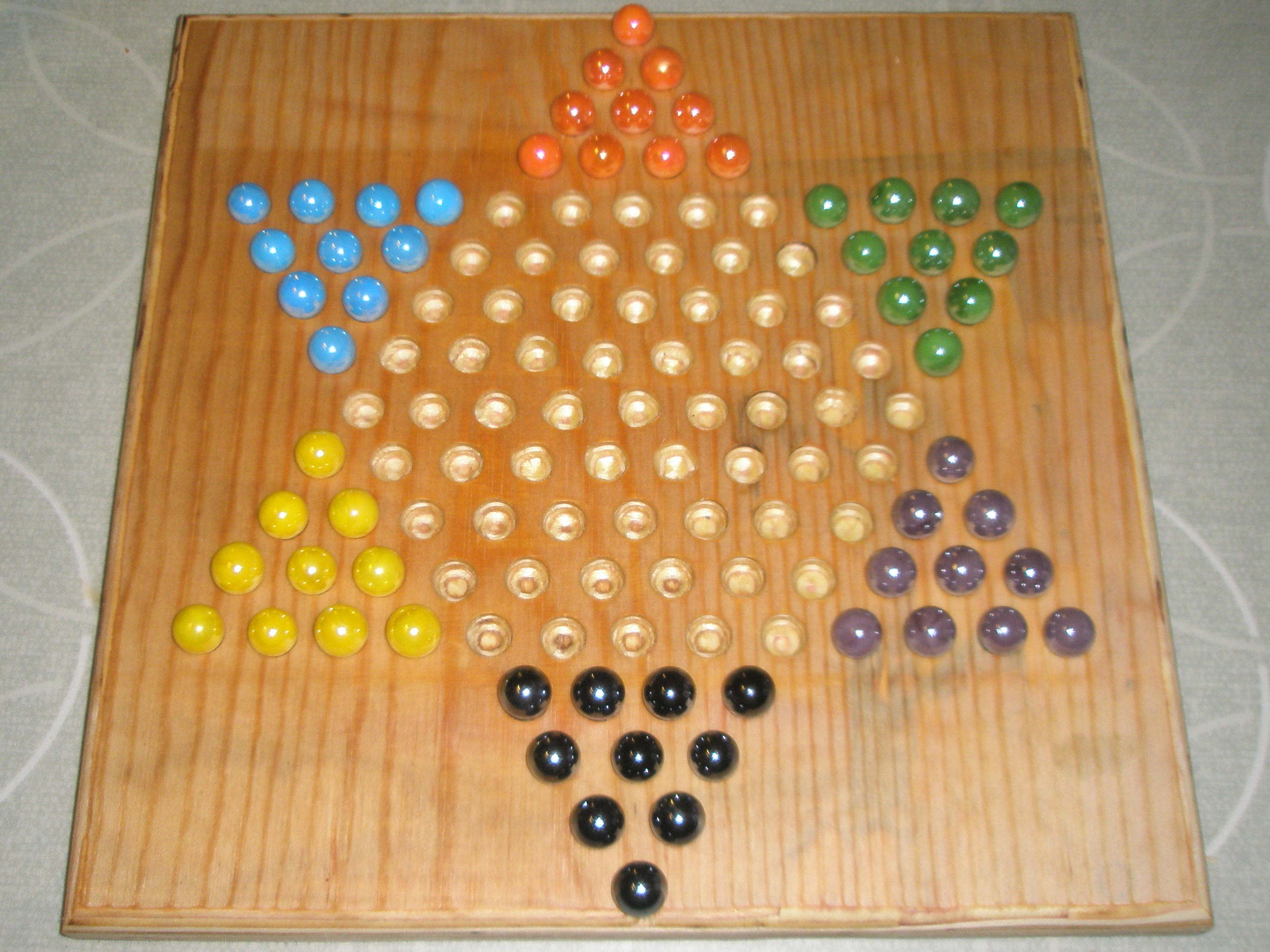 Picture of How to Make a Chinese Checkers Board
