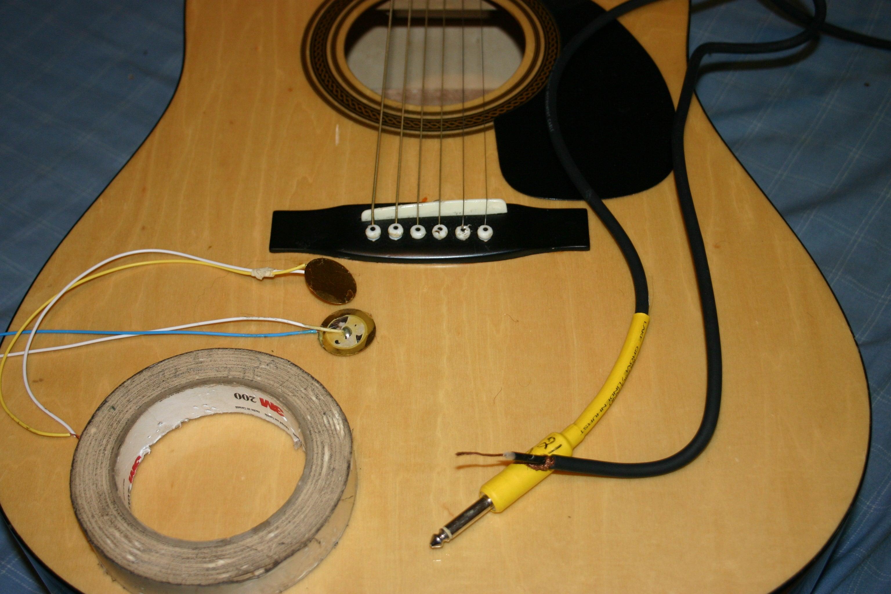 piezo guitar jack wiring diagram acoustic guitar diy piezo pickups 6 steps instructables  acoustic guitar diy piezo pickups 6