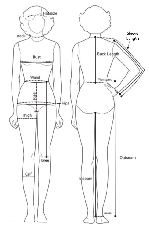 Picture of Sizing Information for Skirt