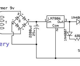 简单的5v备用电池电路