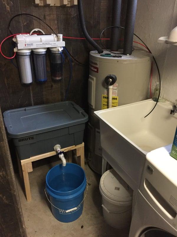 RODI freshwater storage setup