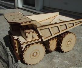 Laser Cut Mining Dump Truck Toy